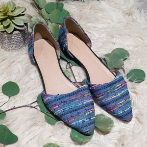 J.Crew Multicolored tweed flats size 9.5